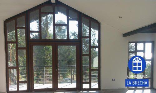 muro ventanas PVC puerta